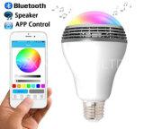 De LEIDENE Kleurrijke Slimme Spreker Bluetooth van de Gloeilamp en APP Controle