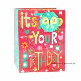 Geburtstag-purpurrotes Kleidungs-Spielzeug-Supermarkt-Form-Geschenk-Papierbeutel