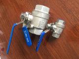 BACCANO api SS304 standard 2 parti della valvola a sfera 1000psi