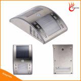 Luz Solar 2 LEDS alimentada a energia solar Barreira de Segurança Wall Garden luz para iluminação doméstica Tudo em Um