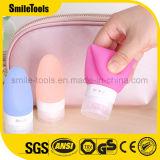 Botella del champú del recorrido portable del silicón de la categoría alimenticia mini