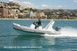 Liya 5.2mの膨脹可能なディンギーのHypalonの外皮の半硬式の膨脹可能なボート