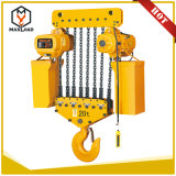 alzamiento de cadena eléctrico 10t para el braguero