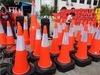 Borracha plástico da segurança do tráfego rodoviário Cold-Resistant Cone sem Fading