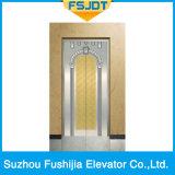 Ascenseur luxueux de passager du chargement 1000kg avec l'acier inoxydable de miroir