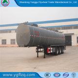 Depósito de aceite comestible de fábrica del volante/Semi-Trailer cisterna con capa de aislamiento térmico.