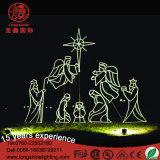 Het Licht van de Scène van de Geboorte van Christus van de openlucht LEIDENE Decoratie van Chirstmas