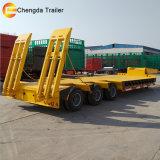 Preiswerte 55 Tonnen-schwere Geräten-Extensions-niedriger Ladevorrichtung Lowboy Schlussteil