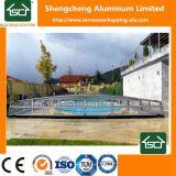 Cercos telescópicos da piscina do metal ou telhado da associação da tampa da piscina