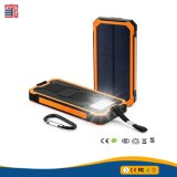 Adaptador de Puertos USB Portable Mobile Smart Phone Power Bank Cargador Solar 10000mAh Solar Power Bank con Luz LED