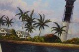 Commerce de gros American Light House directement à partir de l'atelier de peinture d'huile
