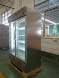 1400Lガラスドアの冷たい飲み物の表示ステンレス鋼商業冷却装置ショーケースのクーラー