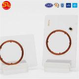 Tag redondos da proximidade do PVC do tamanho 125kHz com a microplaqueta Tk4100
