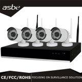cámaras de vigilancia sin hilos del CCTV de la seguridad del kit del IP WiFi 4CH 2.4G NVR de 720p HD