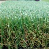 Tappeto erboso sintetico personalizzato erba artificiale del prato inglese di quattro colori
