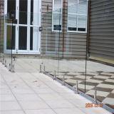 Лестница ограждения Поручень из нержавеющей стали шаровой кран стекло поручень