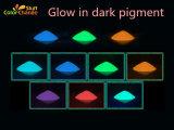 Coloridos brillan en la oscuridad los pigmentos fosforescentes para plástico /silicona