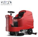 Equipamentos de limpeza de terra suba na máquina Depurador de piso eléctrico na cor vermelha