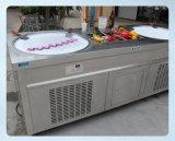 10の事前に冷すタンクが付いている70cm鍋のアイスクリームロール機械