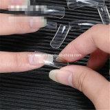 100PCS/Boxプラスチック自然で白く自然なカラー半分カバー釘の先端