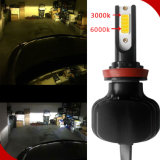 Faro de Auto Super White 80W 6000K 9600LM H4 8000K LED Iluminación auto Canbus Kit H7 H13 880/881 3 laterales H4 Faro LED