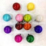 Perlados Baubles Caja de PVC bolas de Navidad Decoración de Navidad P24-WB1