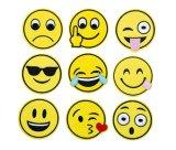 공장 직매 주문 대량 채트 Emoji 자수 패치