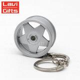 新型の車輪の縁のKeychainカスタム普及した創造的な車の自動金属の小型部品のタイヤのキーホルダー