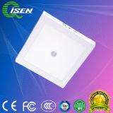 18W quadrado de superfície da luz do painel do detector de movimento por infravermelhos