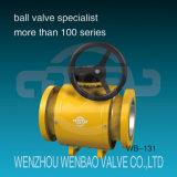 API6D muñón completamente soldado montado en la válvula de bola para gas natural