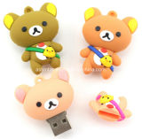 Lecteur flash USB de PVC d'ours de dessin animé de mémoire Flash d'USB Pendrive