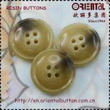 4holes di qualità superiore Imitation Horn Resin Coat Button
