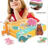 La educación temprana juguetes rompecabezas madera rompecabezas el tráfico de animales para niños