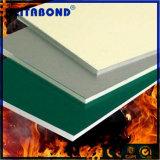 Blanc panneau composite en aluminium résistant au feu de base pour mur rideau avec 20 ans