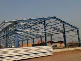 Structure métallique SL-0087 de bâtiment portatif léger préfabriqué de trame