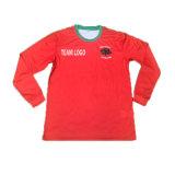 빨간 승화 주문 로고로 인쇄하는 긴 소매 축구 셔츠