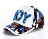Boné de beisebol feito sob encomenda de Embroideried do logotipo do menino, tampão do esporte, tampão do lazer no vário tamanho, material e projeto