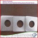 Rondelle carrée plate galvanisée d'IMMERSION chaude