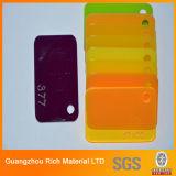 Panel acrílico acrílico de plástico de color del panel de PMMA