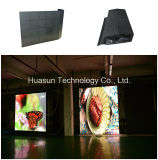 Flexibler LED Bildschirm des im Freien der Miete-LED Vorhang-