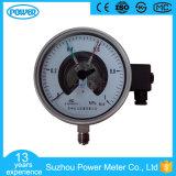 """6 """" 150mmすべてのステンレス鋼の電気接触の圧力計"""