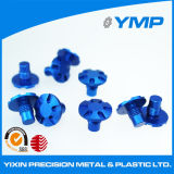 Personalizar CNC anodizado azul girando el tornillo