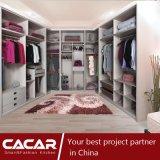 Guardaroba bianco della camera da letto del PVC di legno del guardaroba di stile di Cartagine U (CA01-04)