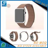 Faixa de relógio esperta de couro à moda elegante nova para Apple Iwatch