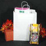 Sacchetto di elemento portante promozionale bianco del sacchetto di acquisto del sacchetto della carta kraft E del sacchetto dei sacchi di carta del Kraft Brown