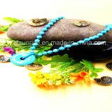 Ottimizzato elaborando la collana del branello del turchese con le guarnizioni di gomma piuma Pendant