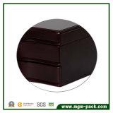 Contenitore di monili di legno del nero di disegno semplice con la chiusura