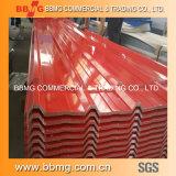 La alta calidad caliente/laminó la bobina galvanizada sumergida caliente del material de construcción acanalada cubriendo la placa de acero del metal
