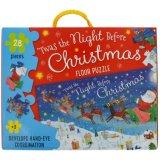 Melhor presente Natal Puzzle do papel do piso para crianças