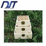 Rectángulo de almacenaje de madera determinado del modelo hueco de la alta calidad